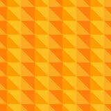 Teste padrão abstrato alaranjado com triângulos Fotografia de Stock Royalty Free
