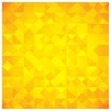 Teste padrão abstrato amarelo do triângulo e do quadrado Imagens de Stock Royalty Free