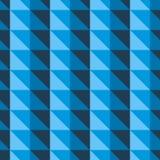 Teste padrão abstrato azul com triângulos Imagens de Stock