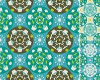 Teste padrão abstrato azul da mobília Fotos de Stock Royalty Free