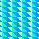 Teste padrão abstrato azul e verde com triângulos Imagens de Stock Royalty Free