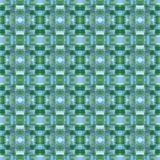 Teste padrão abstrato azul e verde dos retalhos Fotos de Stock