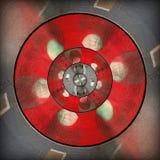 Teste padrão abstrato circular cinzento vermelho radial ilustração do vetor