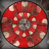 Teste padrão abstrato circular cinzento vermelho radial Imagem de Stock