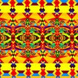 Teste padrão abstrato colorido Arte geométrica do fundo Ilustração do Fractal de Digitas Imagem decorativa caótica wallpaper Fotografia de Stock Royalty Free