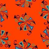 Teste padrão abstrato colorido da laranja do fundo Ilustração Royalty Free