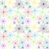 Teste padrão abstrato colorido das flores estendido Foto de Stock