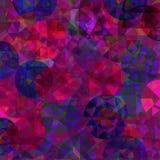 Teste padrão abstrato com círculos coloridos Fotos de Stock