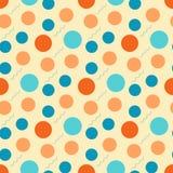 Teste padrão abstrato com círculos retros em um fundo claro ilustração do vetor