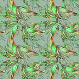 Teste padrão abstrato com elementos florais Fotografia de Stock