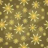 Teste padrão abstrato com figuras amarelas Fotografia de Stock Royalty Free