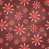Teste padrão abstrato com figuras vermelhas Fotos de Stock Royalty Free