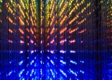 Teste padrão abstrato com luzes do diodo emissor de luz Imagem de Stock