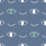Teste padrão abstrato com os olhos abertos e pisc Ilustração Royalty Free