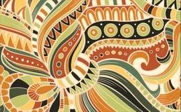 Teste padrão abstrato composto da flor Vetor Fotos de Stock