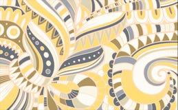 Teste padrão abstrato composto da flor Vetor Fotografia de Stock Royalty Free