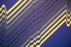 Teste padrão abstrato da arte finala em amarelo, no azul e no preto Fotos de Stock Royalty Free