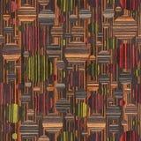 Teste padrão abstrato da bolha - cores diferentes - textura de madeira ilustração do vetor