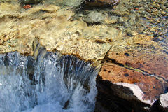 Teste padrão abstrato da cachoeira/Rapids Fotos de Stock