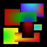 Teste padrão abstrato da cor ilustração do vetor
