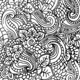 Teste padrão abstrato da fantasia do vetor para o livro para colorir para o projeto da página dos adultos, ornamento a mão livre  Imagens de Stock Royalty Free