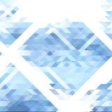 Teste padrão abstrato da geometria dos triângulos azuis e brancos Fotografia de Stock Royalty Free