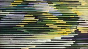 Teste padrão abstrato da listra: pinte cores de óleo na lona ilustração do vetor