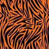Teste padrão abstrato da pele animal Zebra, listras do tigre Ilustração do Vetor