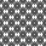 Teste padrão abstrato das estrelas de David Vetor Fotos de Stock