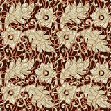 Teste padrão abstrato das folhas florais sem emenda ilustração do vetor