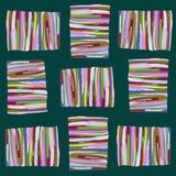 Teste padrão abstrato de listras coloridas em um fundo escuro ilustração stock
