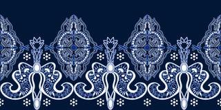 Teste padrão abstrato de paisley com motivos indianos ilustração do vetor