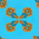 Teste padrão abstrato decorativo com rolo Fotografia de Stock