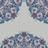 Teste padrão abstrato decorativo nos cantos Foto de Stock Royalty Free