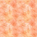 Teste padrão abstrato delicado sem emenda com flores Retrato do vetor Fotografia de Stock Royalty Free