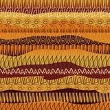 Teste padrão abstrato desenhado à mão no estilo africano ilustração stock