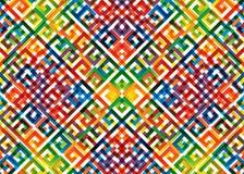 Teste padrão abstrato do arco-íris ilustração stock