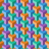 Teste padrão abstrato do cubo Fotos de Stock