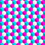 Teste padrão abstrato do cubo Fotos de Stock Royalty Free