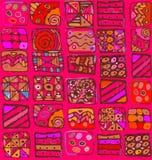 Teste padrão abstrato do desenho a mão livre das formas geométricas Fotos de Stock Royalty Free