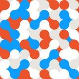 Teste padrão abstrato do fundo da cor do círculo Foto de Stock