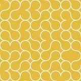 Teste padrão abstrato do fundo do ouro do círculo Foto de Stock