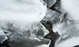 Teste padrão abstrato do gelo Imagens de Stock Royalty Free