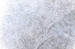 Teste padrão abstrato do gelo no inverno Foto de Stock