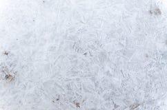 Teste padrão abstrato do gelo no inverno Imagens de Stock