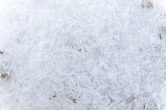 Teste padrão abstrato do gelo no inverno Imagens de Stock Royalty Free