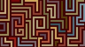 Teste padrão abstrato do labirinto em cores mornas ilustração do vetor