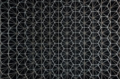 Teste padrão abstrato do metal sob a forma da construção inoxidável Imagens de Stock