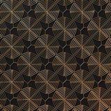 Teste padrão abstrato do ouro na obscuridade - fundo cinzento rendição 3d Fotografia de Stock Royalty Free