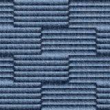 Teste padrão abstrato do paneling - teste padrão sem emenda - calças de brim azuis da sarja de Nimes Foto de Stock Royalty Free